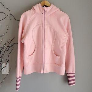 Baby pink Lululemon scuba hoodie